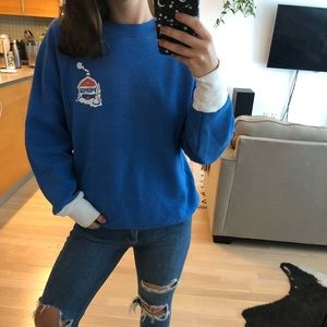 Vintage Pepsi Two Tone Sleeve Sweatshirt